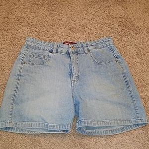 Lee Jean Shorts Riveted Ultimate 5 Faded Blue EUC